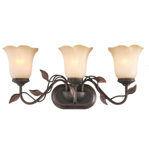 allen roth eastview dark oilrubbed bronze bathroom vanity light at loweu0027s bring a touch of nature inside with this charming bathroom vanity light from