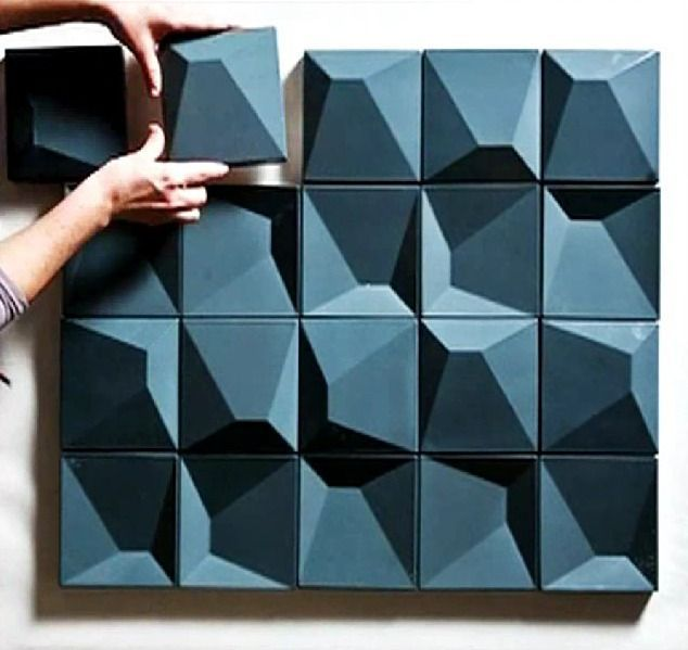 """CZECH TILES    / Correia / Ragazzi Arquitectos /     """"Two complementary types of tiles, in high relief andlow relief, that together or separately, create several surfaces of highplasticity. Different patterns and textures can result from the differentand countless combinations possible."""""""