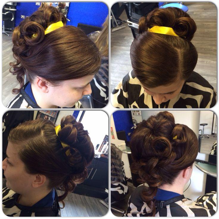 Disney belle inspired hair up