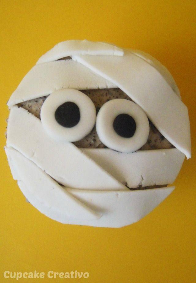Cupcake Creativo: Cupcakes de Momia (Halloween)