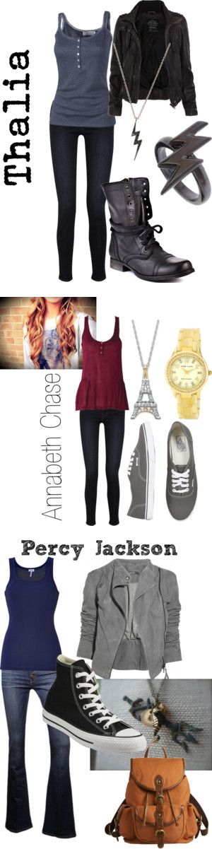 Percy jackson and the Olympians fashion. I LOVE Thalia cuz I'm just like her. What about you?