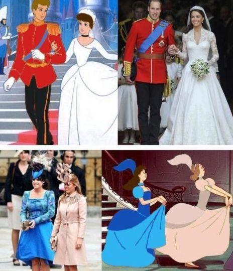 funny royal wedding disney comparisonReal Life, Too Funny, Kate Middleton, Royal Weddings, So Funny, Cinderella Wedding, Prince Charms, Disney Movie, Fairies Tales