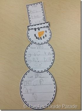Writing How to Build a Snowman in 3 Simple Steps
