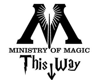 Ministry Of Magic This Way Funny Toilet Bathroom Sticker