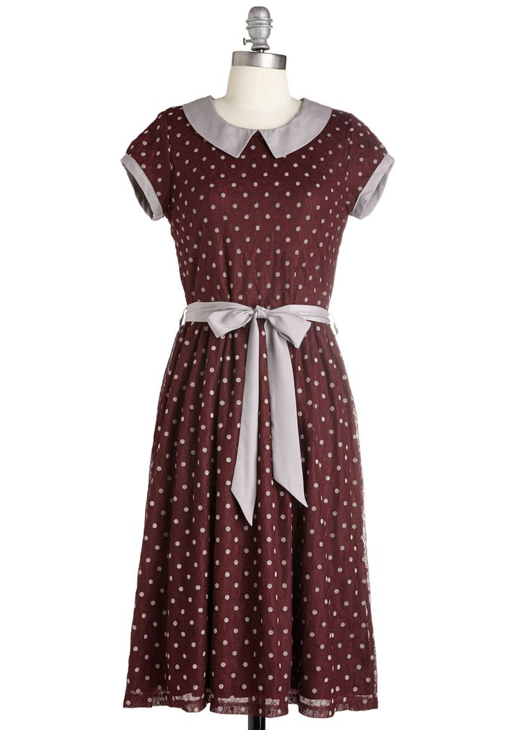 Winsome Weekend Dress in Burgundy. Start your weekend on a delightful note with this burgundy dress! #red #modcloth