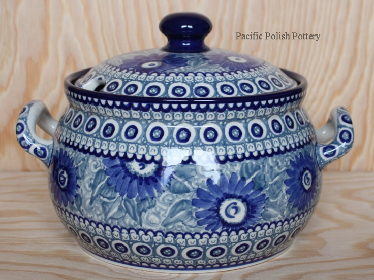 Polish Pottery Unikat Covered Tureen Baker (Pattern 741)