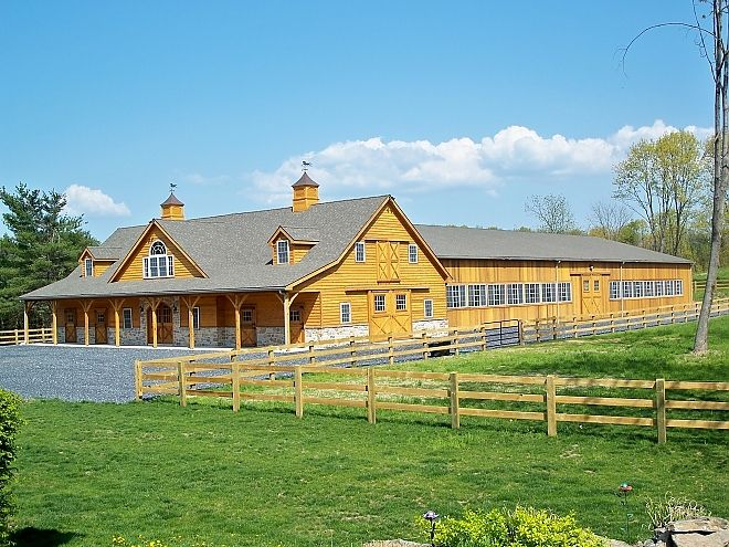 Dream wood barn house/barn and indoor arena. Only thing missing is the aqua pool for equine swim!