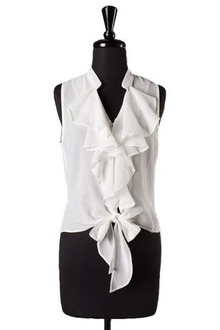 Lolita Frills Blouse - White - $35.00 | Daily Chic Tops | International Shipping