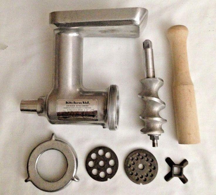 Kitchen Aid Hobart Meat Grinder Food Grinder Attachment Metal vintage #KitchenAid
