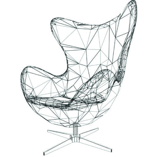 Wonderful Wire Frame Egg Chair