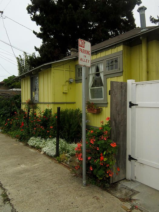 Yellow Alley House Coronado Califorina by Sharon French