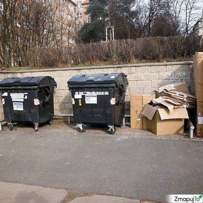 Podnět 145650 - Odpadkový koš kontejner - Praha 10 #Odpadkovýkoškontejner #Praha10 #ZmapujTo #MobilniRozhlas