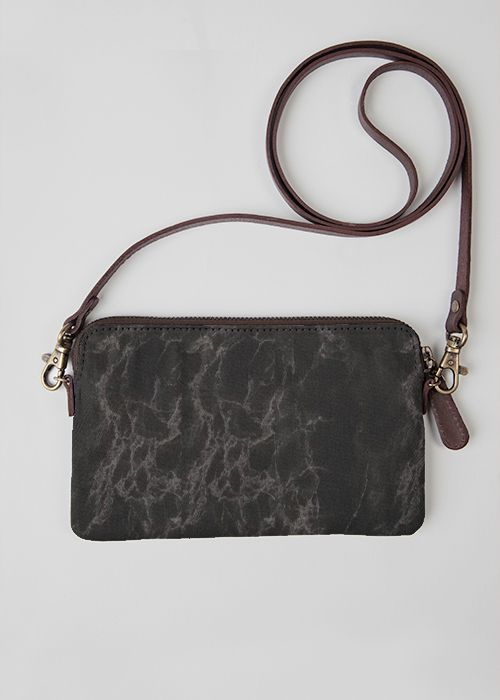 VIDA Leather Statement Clutch - Tangled web by VIDA