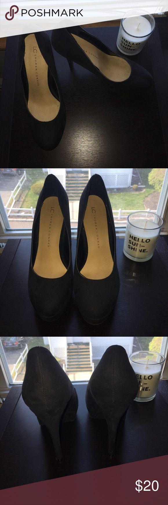 Lauren Conrad Black Suede Heels Lauren Conrad Black Suede Heels LC Lauren Conrad Shoes Heels