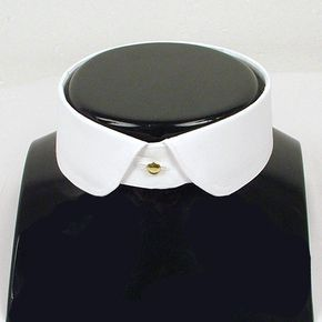 Eton detachable collar rounded point (shown with Bromleys collar studs) - Peaky Blinders style