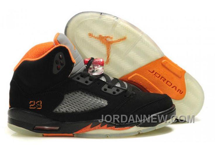 http://www.jordannew.com/womens-nike-air-jordan-5-shoes-black-orange-for-sale.html WOMEN'S NIKE AIR JORDAN 5 SHOES BLACK/ORANGE FOR SALE Only $89.15 , Free Shipping!