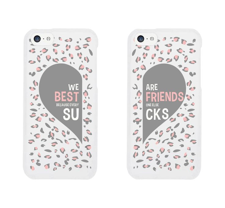 Best Friend Phone Cases - Cute Leopard Print Phone Covers for iphone 4, iphone 5, iphone 5C, iphone 6, iphone 6 plus, Galaxy S3, Galaxy S4, Galaxy S5, HTC M8, LG G3: Cell Phones & Accessories