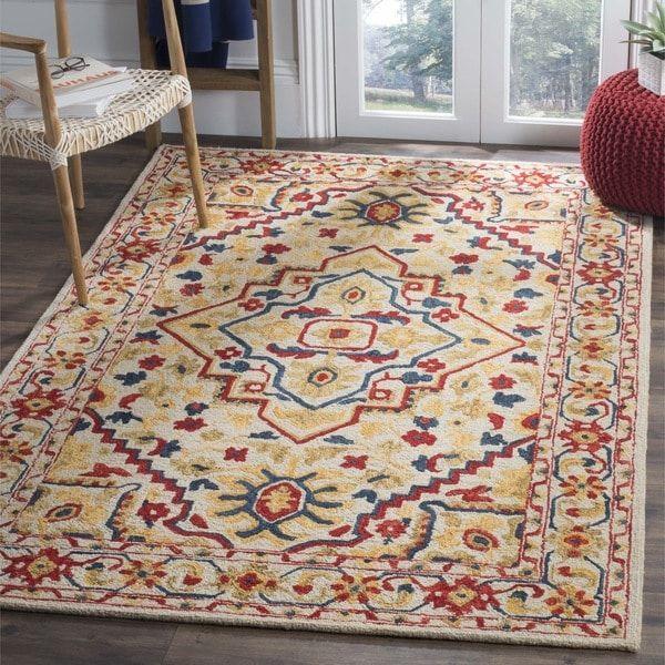 Safavieh Handmade Aspen Constance Boho Tribal Wool Rug With Images Southwestern Area Rugs Area Rugs