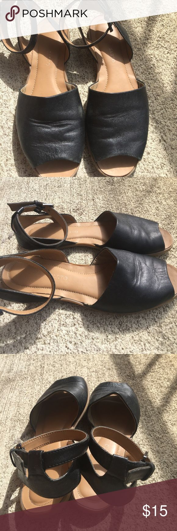 Black sandals size 7 - Cute And Comfy Franco Sarto Sandals Size 7 Cute And Comfy Franco Sarto Black Sandals Size