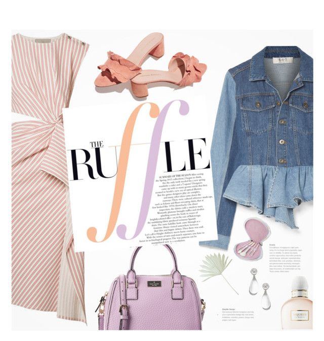 """""""What a Frill: Ruffles"""" by beautifulplace ❤ liked on Polyvore featuring Kate Spade, Sea, New York, Jason Wu, Loeffler Randall, Chanel and Alexander McQueen"""