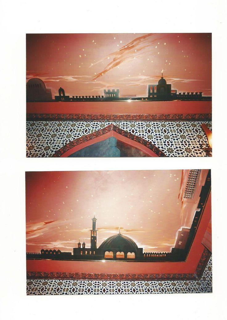 Pittura su soffito.Autore M Sambur .Un hamamm a Mosca