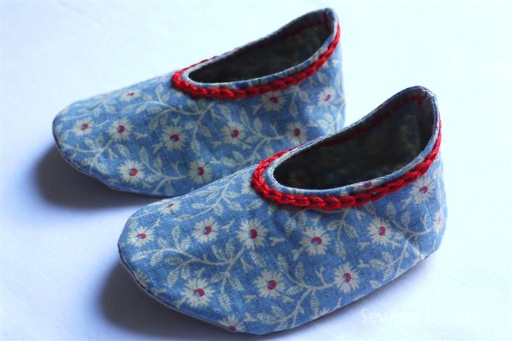 Baby booties @ Sewing daisies