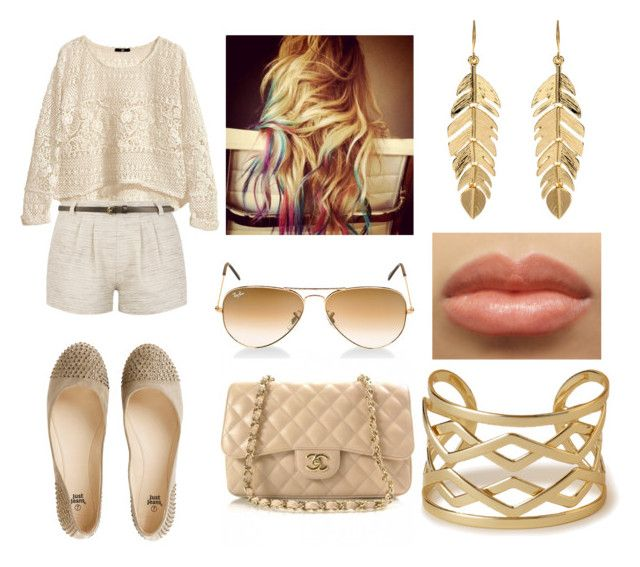 i should´ve kiss you by omgispolyvore on Polyvore featuring moda, H&M, Forever 21, Amrita Singh and Ray-Ban