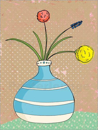 Poster Unverblht Stillleben BlumenWohnzimmerBilderVasePictures