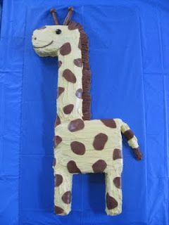 Tyson really wants a green giraffe cake for his birthday this year. This looks like something I could make