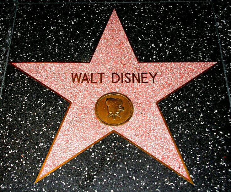 In 1960, Walt Disney received 2 stars on the Hollywood Walk of Fame; 1 for film and the other for television.