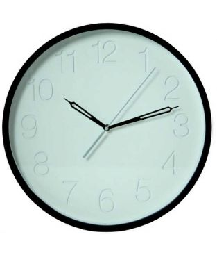 Reloj pared madera blanco y negro