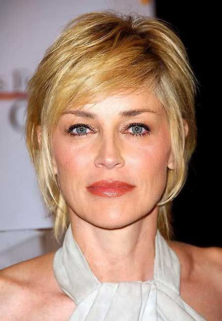 Sharon-Stone-Short-Hair Layered Hairstyles, Sharon Stones, Short Hair ...