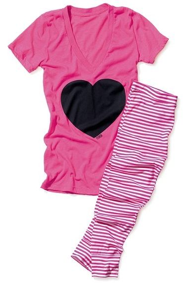 Victoria's Secret Pink Tee & Legging Sleep Set