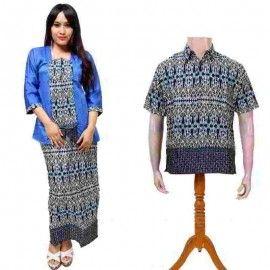 Batik Couple Atas Bawah Biru