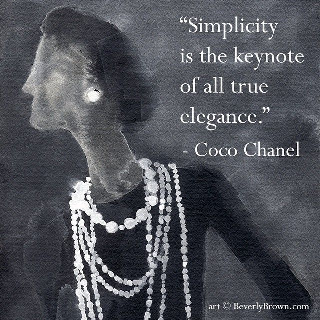 Coco Chanel - in addition to being one of the most famous French fashion and style icons of all time, she was famous for her quotes | Artwork © Beverly Brown www.beverlybrown.com