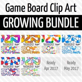 Get 20% off these board game sets PLUS 2 SETS FREE by buying into this growing bundle!What is a growing bundle?A growing bundle is a bundle of products that is not yet complete. There are 2 more game board clip art sets to be added to this bundle. Each time a product is added the price of the bundle will go up. $24.00