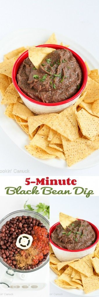 5-Minute Black Bean Dip
