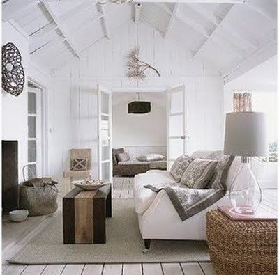 Beautiful Beach House Interiors « what the traveler bringsCrisp. White. Simple.