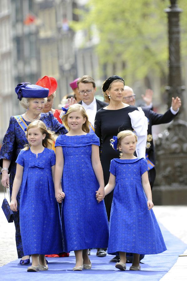 The Princesses of the Netherlands at the Investiture Ceremony of the parents, King Willem-Alexander and Queen Maxima