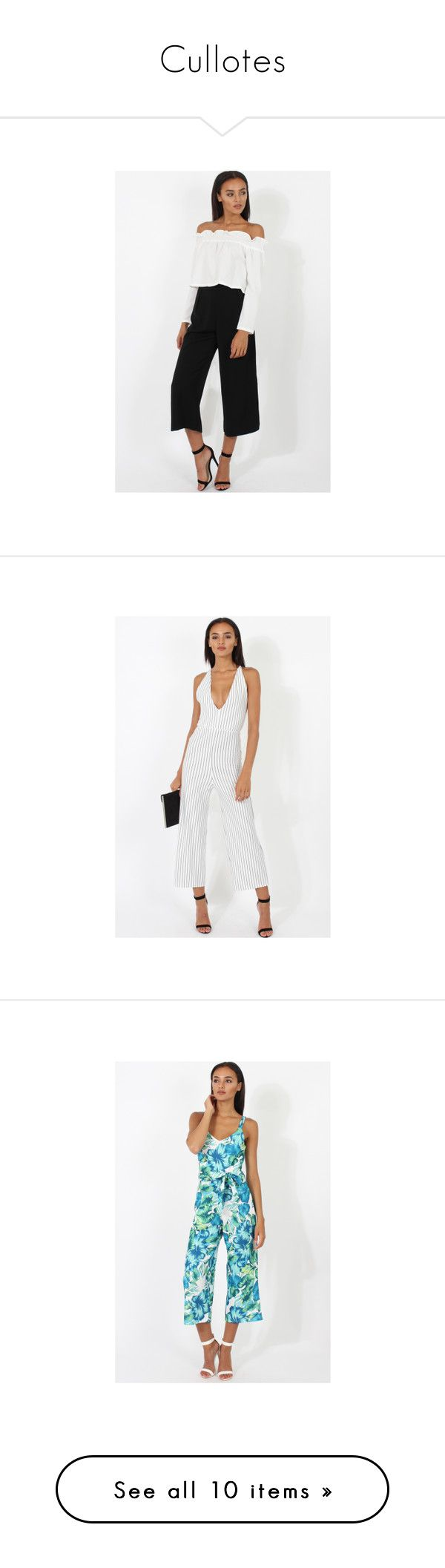 """""""Cullotes"""" by rebellious-fashion ❤ liked on Polyvore featuring pants, white pants, white trousers, white cigarette trousers, cigarette trousers, white cigarette pants, jumpsuits, red jump suit, jump suit and red jumpsuit"""