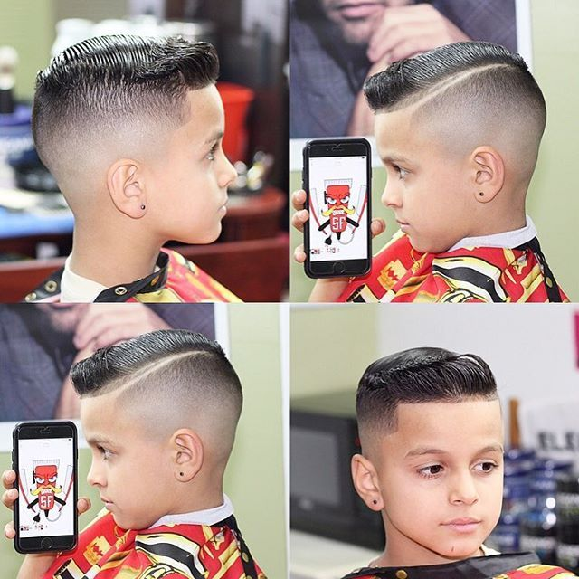 side parting haircut designs