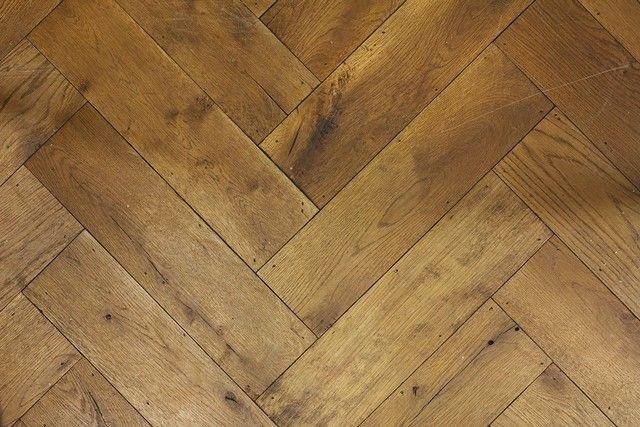 De Oude Plank - Oude houten vloeren - Visgraat, bruine olie