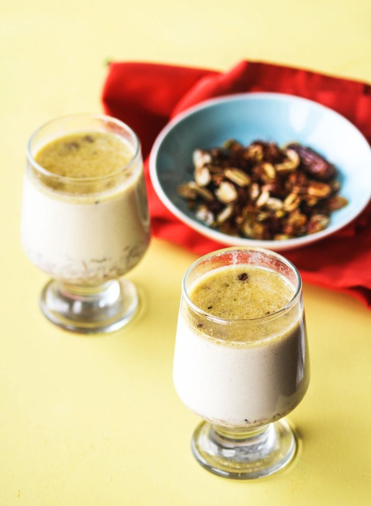 The milky goodness of ghee-tossed vermicelli, warm saffron milk, chopped pistachios, and chewy, sweet dried dates create this lovely celebratory drink.