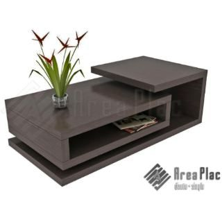 Mesa ratona rectangular wengue mueble dise o minimalista for Mesas plegables salon diseno