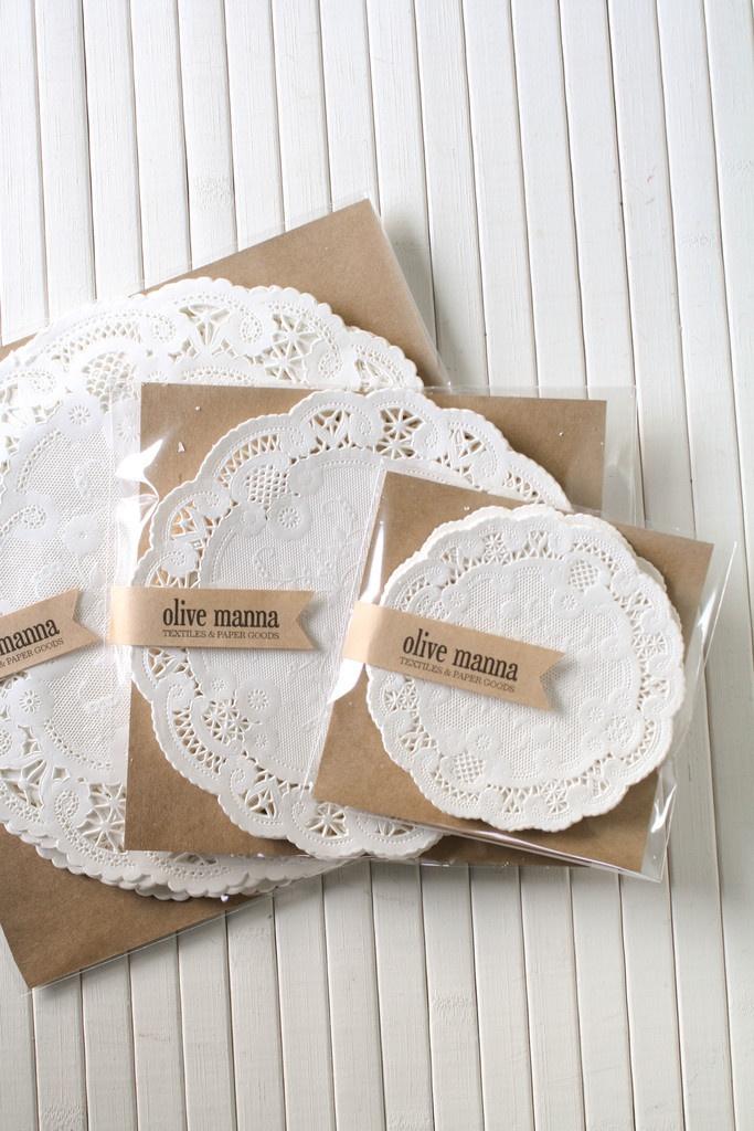 Paper Doilies- cute headband packaging