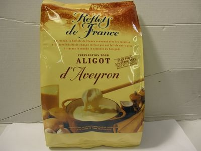 This is my new favourite food: Aligot, a wicked blend of cheese and potato. This is the cheat's version - just mix the powder with creme fraiche over heat. Sublime comfort food.