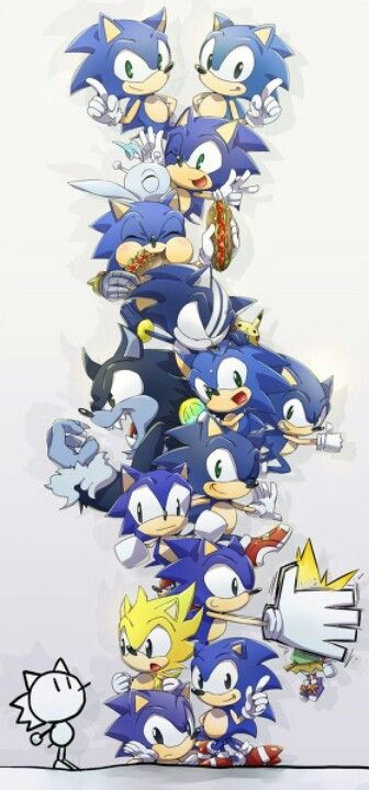 Sonic the hedgehog (25 years since the first game)