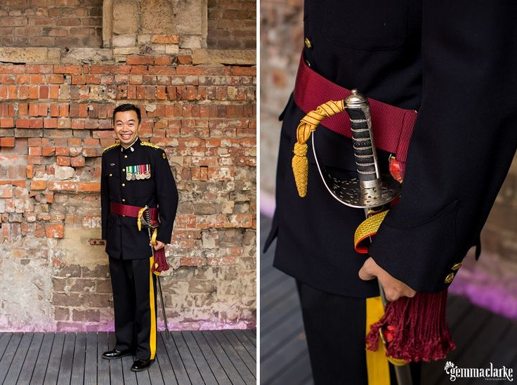 Stefanie and Andrew's Sword Ceremony at The Mint, Sydney | Gemma Clarke Photography
