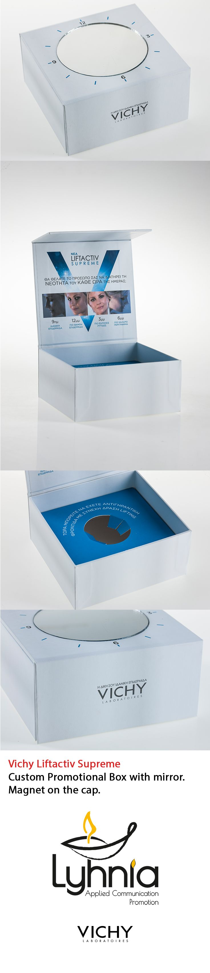Vichy Liftactiv Supreme Custom Promotional Box with mirror Magnet on the cap.
