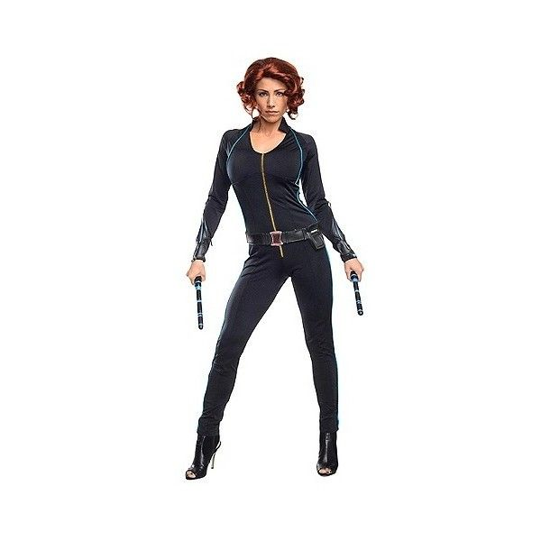 The Avengers Age of Ultron Women's Black Widow Costume -, Size: XS ($55) ❤ liked on Polyvore featuring costumes, black, halloween, avengers halloween costumes, womens black widow costume, adult halloween costumes, black widow halloween costume and ladies costumes